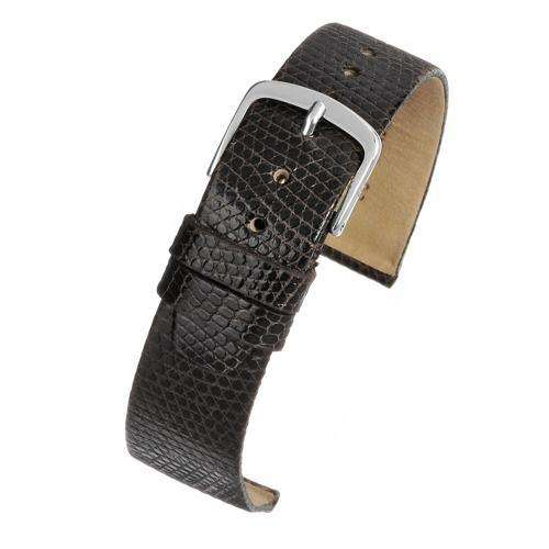 Authentic Lizard Watch Strap Brown Chrome Buckle Size 8mm to 20mm