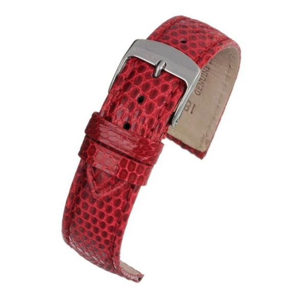 Authentic Lizard Watch Strap Red 18mm