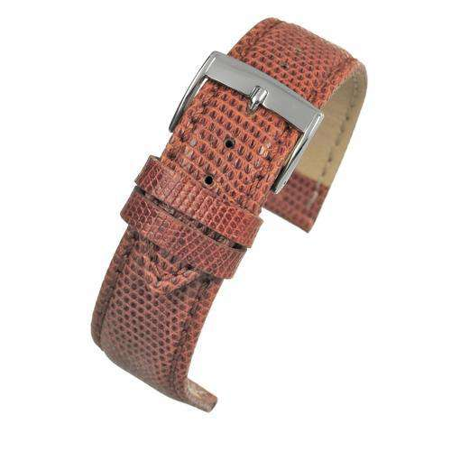 Genuine Italian Lizard Watch Strap Tan Size 14mm to 20mm