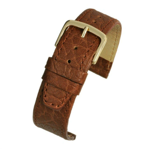 Honey Vegetable Leather Watch Strap
