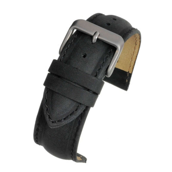 Suede Black Padded Watch Strap