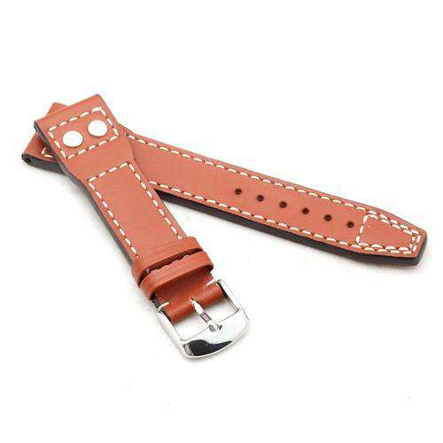 Calf Leather Watch Strap Tan for IWC Marino 20mm and 22mm