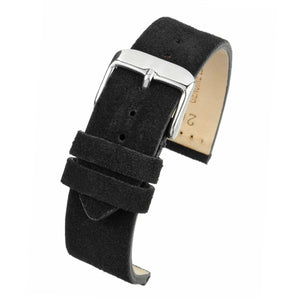 Black Suede Watch Strap Premium Quality Size 18mm to 22mm