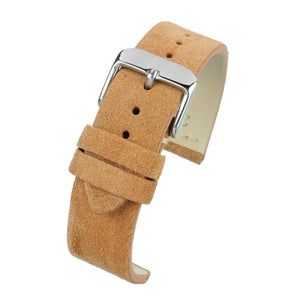 Tan Suede Watch Strap Premium Quality Size 18mm to 22mm