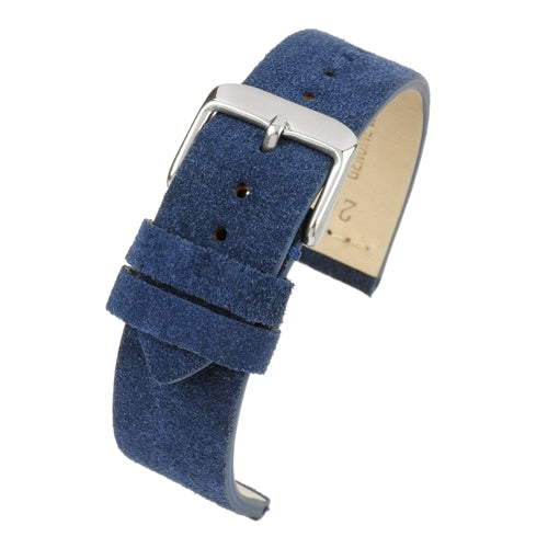 Blue Suede Watch Strap Premium Quality Size 18mm to 22mm