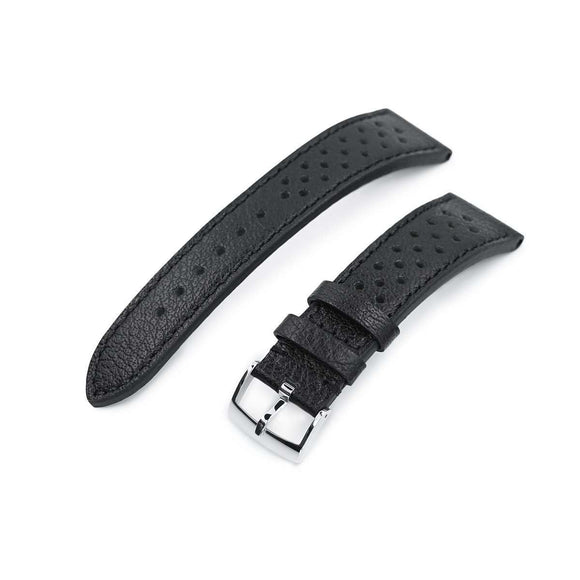20mm or 22mm MiLTAT Rally Racing Watch Strap, Black