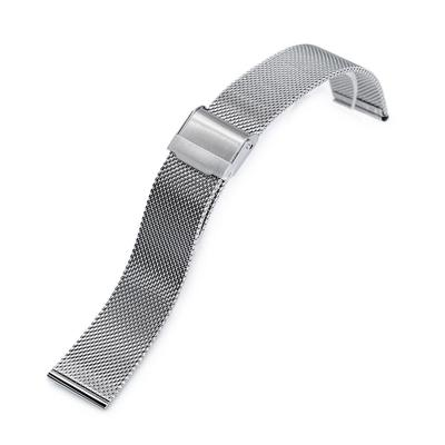 18mm, 20mm or 22mm Classic Vintage Knitted Superfine Wire Mesh Band, Polished