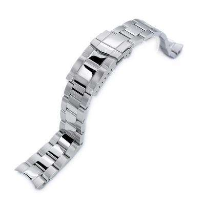 20mm Super 3D Oyster 316L Stainless Steel Watch Bracelet for Seiko Mechanical Automatic SARB033, Button Chamfer, Polish & Brush