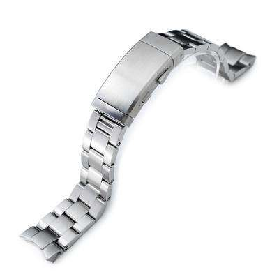 20mm Super 3D Oyster watch band for Seiko Alpinist SARB017, Brushed, Wetsuit Ratchet Buckle