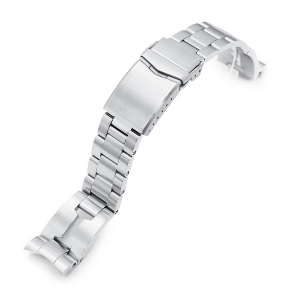 Strapcode Watch Bracelet 20mm 20mm Retro Razor 316L Stainless Steel Watch Bracelet for Tudor BB58, Brushed V-Clasp