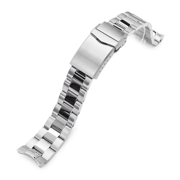 Strapcode Watch Bracelet 20mm Super-O Boyer 316L Stainless Steel Watch Band for Seiko SARB035, Brushed and Polished V-Clasp