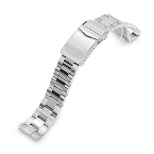 Strapcode Watch Bracelet 20mm Super-O Boyer 316L Stainless Steel Watch Band for Seiko SBDC053 aka modern 62MAS, Brushed and Polished V-Clasp