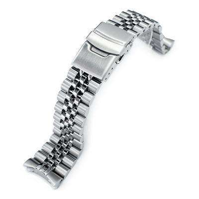 Strapcode Watch Bracelet 22mm Super 3D Jubilee 316L Stainless Steel Watch Band for Seiko SKX007