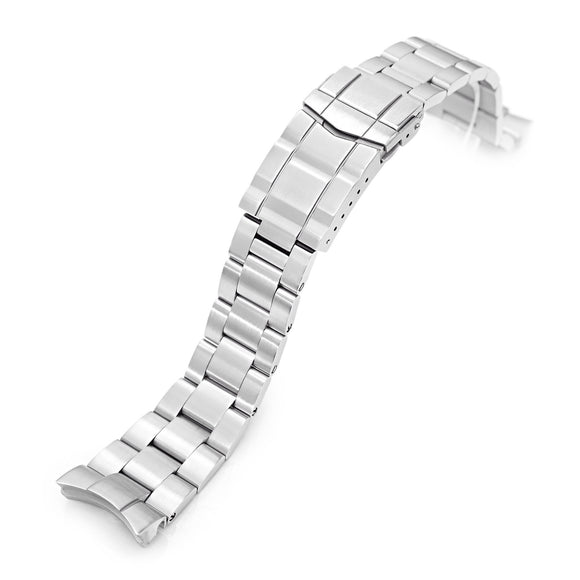 Strapcode Watch Bracelet 22mm Super 3D Oyster 316L Stainless Steel Watch Bracelet for Orient Triton, Brushed Submariner Clasp