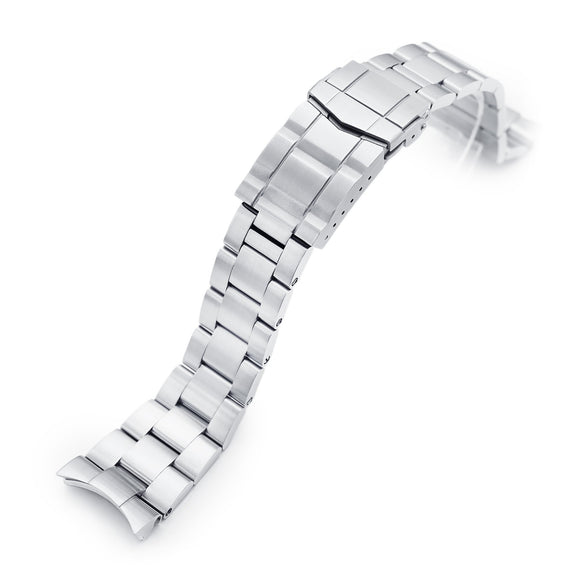 Strapcode Watch Bracelet 22mm Super-O Boyer 316L Stainless Steel Watch Bracelet for Orient Kamasu, Brushed SUB Clasp