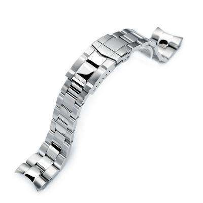 Strapcode Watch Bracelet 22mm Super Oyster 316L Stainless Steel Watch Band for Orient Mako II , Ray II, Brushed , Polished Submariner Clasp