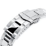 Strapcode Watch Bracelet 22mm Super-O Boyer 316L Stainless Steel Watch Bracelet for Orient Kamasu, Brushed with Polished Center SUB Clasp