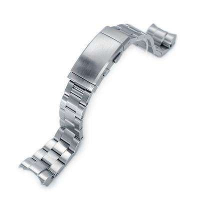Strapcode Watch Bracelet 22mm Super 3D Oyster 316L Stainless Steel Watch Bracelet for Tudor Black Bay, Wetsuit Ratchet Buckle Brushed