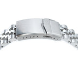 Strapcode Watch Bracelet 22mm Angus-J Louis 316L Stainless Steel Watch Bracelet for Seiko 5, Brushed V-Clasp