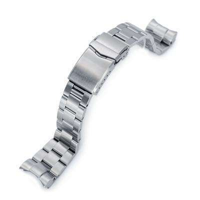 Strapcode Watch Bracelet 22mm Super 3D Oyster 316L Stainless Steel Watch Bracelet for Tudor Black Bay, V-Clasp Brushed
