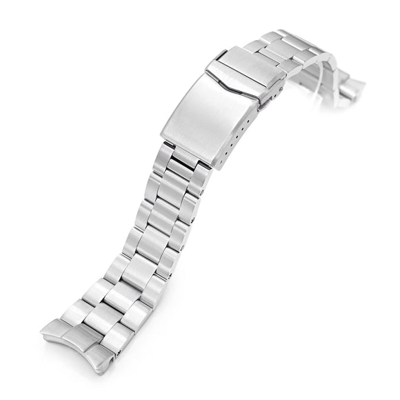 Strapcode Watch Bracelet 22mm Super 3D Oyster 316L Stainless Steel Watch Bracelet for Orient Triton, Brushed V-Clasp