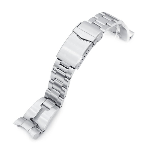Strapcode Watch Bracelet 22mm Retro Razor 316L Stainless Steel Watch Bracelet for TUD BB 79230, Brushed V-Clasp