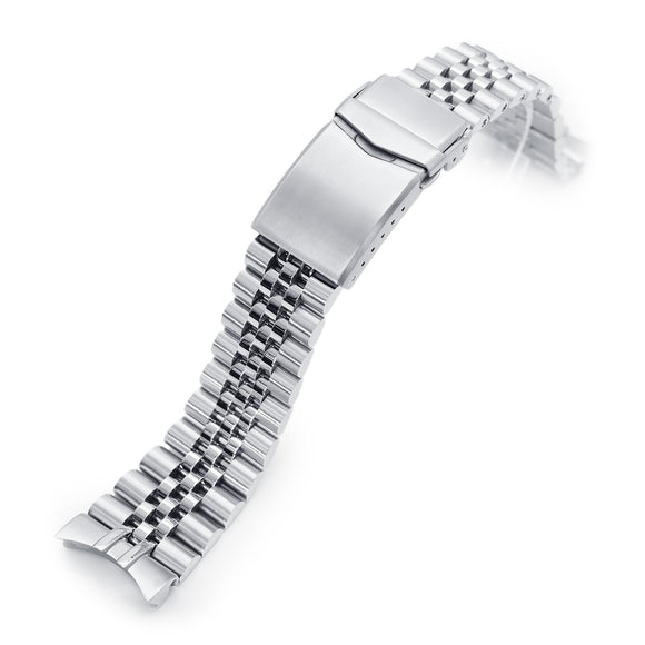 Strapcode Watch Bracelet 22mm Super-J Louis 316L Stainless Steel Watch Bracelet for Orient Kamasu, Brushed V-Clasp