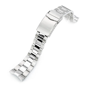 Strapcode Watch Bracelet 22mm Super 3D Oyster 316L Stainless Steel Watch Bracelet for Orient Triton, V-Clasp, Polished & Brushed