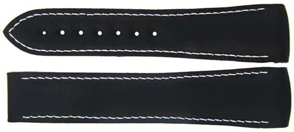 Authentic Omega Watch Strap 22mm Rubber - Black Deployment