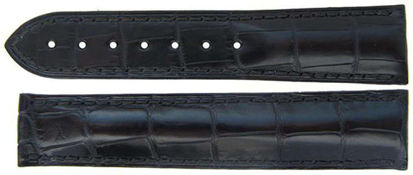 Authentic Omega Watch Strap 21mm Alligator - Black Deployment