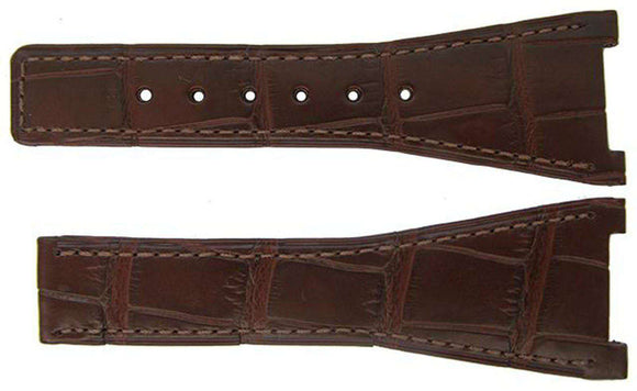 Authentic Omega Watch Strap 16mm Alligator - Brown Deployment