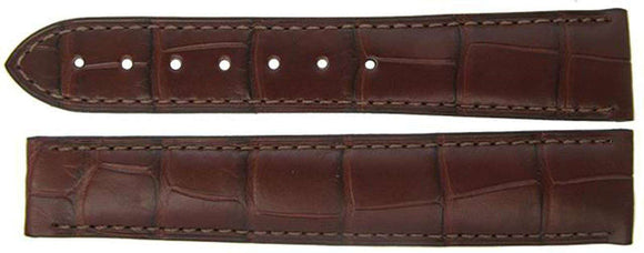 Authentic Omega Watch Strap 19mm Alligator - Brown Deployment