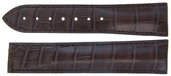 Authentic Omega Watch Strap 22mm Alligator - Brown Deployment