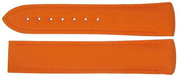 Authentic Omega Watch Strap 18mm Rubber - Orange Deployment
