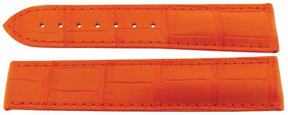 Authentic Omega Watch Strap 20mm Alligator - Orange Deployment