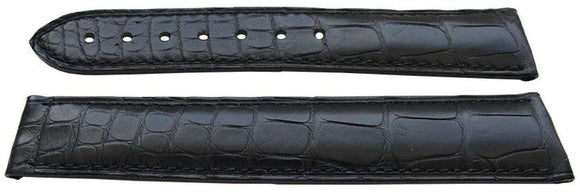 Authentic Omega Watch Strap 19mm Alligator - Black Deployment