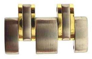 Authentic Omega Watch Bracelet Link, Steel With 18ct Yellow Gold Capped - James Bond Model 1997
