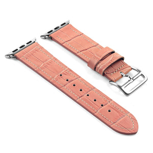 DASSARI Croc Embossed Leather Strap w/ Hermes Buckle Style for Apple Watch