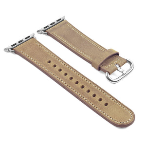 DASSARI Distressed Leather Strap for Apple Watch