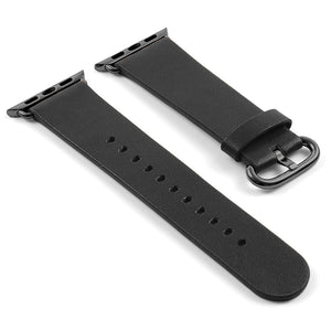 DASSARI Vintage Leather Strap For Apple w/ Black Buckle