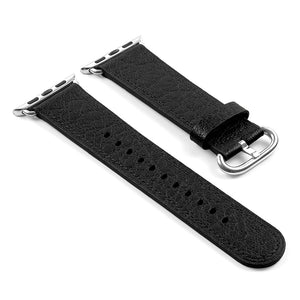 DASSARI Textured Finish Leather Strap For Apple