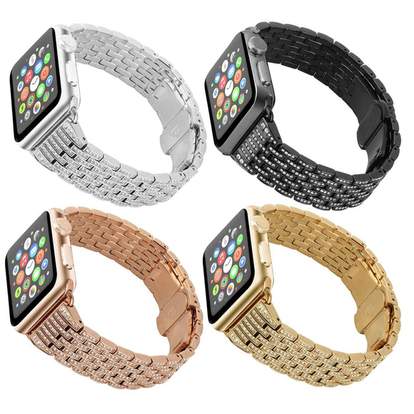 Rhinestone Bracelet Replacement Strap for Apple Watch