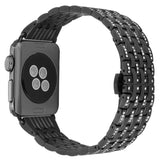 Strapsco Rhinestone Bracelet Replacement Strap for Apple Watch
