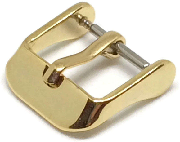 Watch Strap Buckle Gold Plated Size 8mm to 20mm