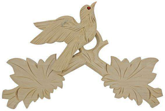 Cuckoo Clock Top Crown Bird