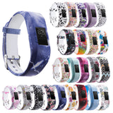Strapsco Patterned Rubber Strap for Garmin Vivofit 3