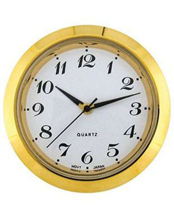 Clock Movement Quartz Mini Insertion Head Ø36mm Gold Arabic
