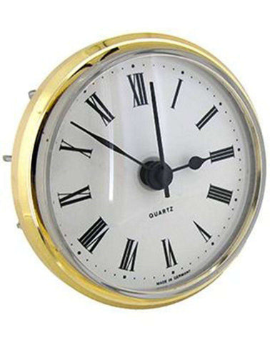 Clock Movement Quartz Insertion Roman Numerals Ø66mm White Dial