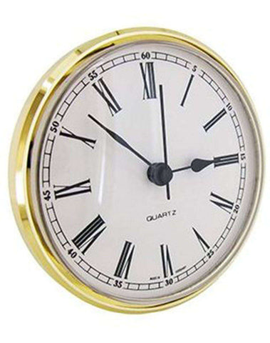 Clock Movement Quartz Insertion Roman Numerals Ø85mm White Dial