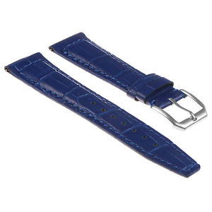 DASSARI Croc Embossed Leather Strap - Quick Release